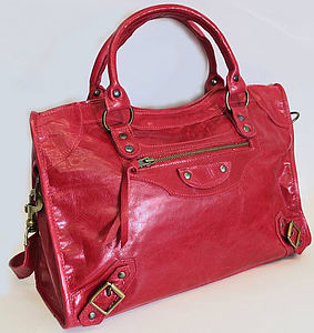 Leather Shoulder Bag - bags, purses & wallets