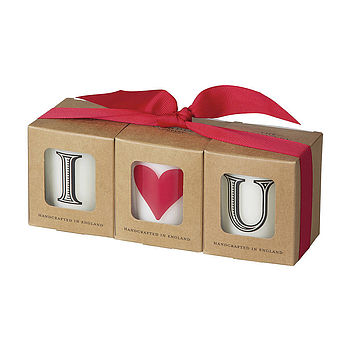 'I Love You' Scented Candle Set