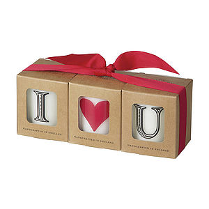'I Love You' Scented Candle Set - table decorations