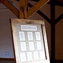 Oak Framed Wedding Seating Plan