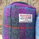 Harris Tweed Doorstop - dark purple/grey check
