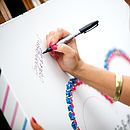 Personalised Wedding Guest Book Canvas