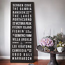 Personalised Canvas Bus Blind