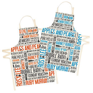 Cockney Rhyming Slang Apron - kitchen accessories