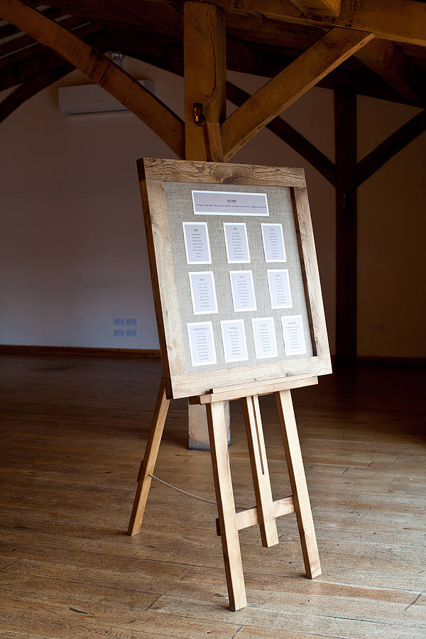 table plan easel for weddings