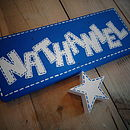 Stitched Star Door Sign