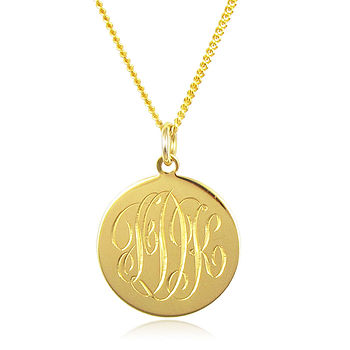 Monogram Necklace Gold