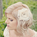 Juliette Handmade Lace Flower Headpiece/Clip