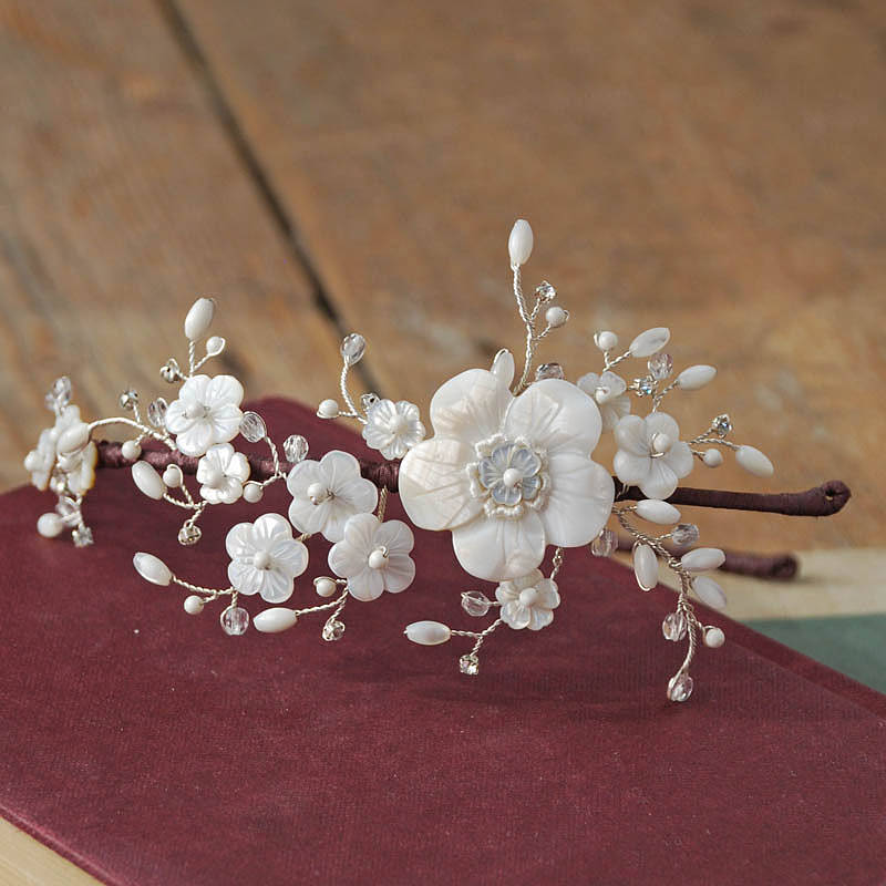 Floral Bridal Headdress : Edie floral bridal headdress by glass oyster