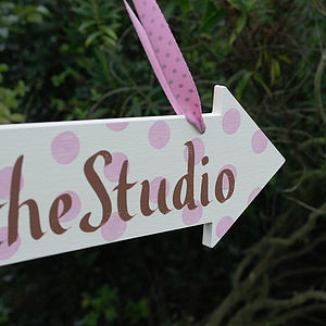 Personalised Wooden Arrow Sign