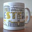 Manchester City Typographic Mug