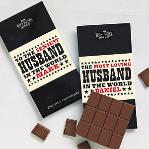 World's Best Husband Chocolate - gifts for him