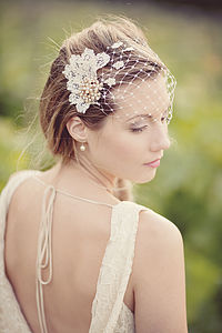 Persephone Birdcage Veil - hats, hairpieces & hair clips