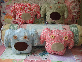Hanging Floral Fabric Lavender Dogs