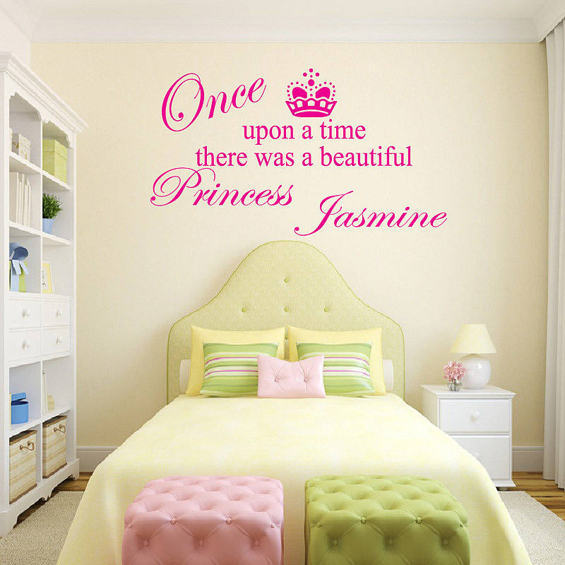 Original_personalised Princess Girls Wall Sticker Part 58