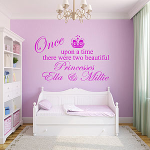 Personalised 'Two Princesses' Wall Sticker - wall stickers