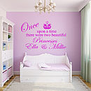 Personalised 'Two Princesses' Wall Sticker