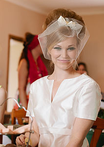 Twiggy Short Tulle And Bow Veil - head pieces