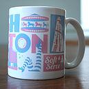 Brighton Typographic Mug