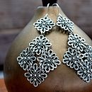Vintage Lace Statement Earrings
