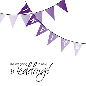 Bunting Wedding Stationery Collection