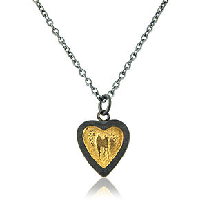 'Hearts Of Gold' Oxidised Silver Pendant - necklaces & pendants