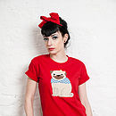 'Hug Me' Pug Applique T Shirt