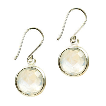Gem Drop Earrings Moonstone And Silver