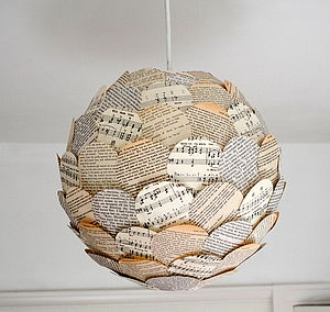 Rhythm And Read Paper Lamp Shade - lamp bases & shades