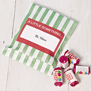 Personalised Bag Of Love Heart Sweets - edible favours