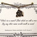 Shakespeare Romeo And Juliet Rose Necklace