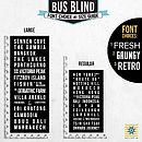 Bus Blind Size