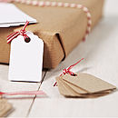 Pack Of 10 Brown Gift Tags