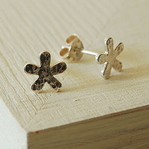 Hammered Flower Earrings - children's jewellery