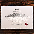'Reasons I Love You…' Personalised Valentines Gift