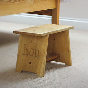 Welsh Oak Stool - footstools & pouffes