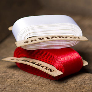 Satin Red Ribbon - ribbon & wrap