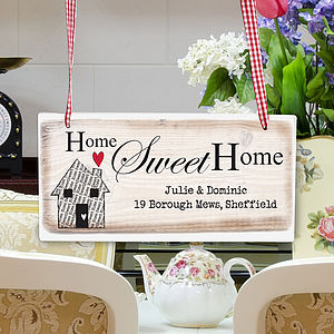 Personalised Home Sweet Home Hanging Sign - outdoor decorations