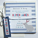 Boy's Personalised Birth Announcement Cards