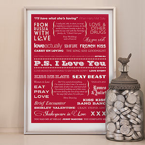 'P.S. I Love You' Typographic Print - posters & prints