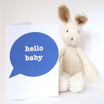 Hello Baby New Baby Boy Card
