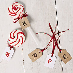 Personalised Love Lollipop - edible favours