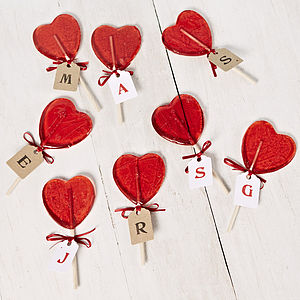 Personalised Heart Lollipop - wedding favours