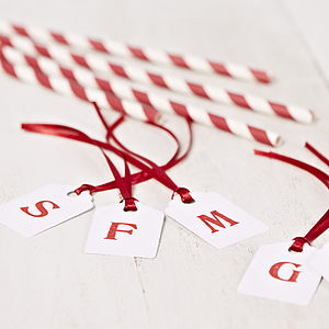 Personalised Initial White Gift Tag