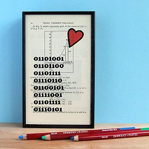'I Love You' Binary Valentine's Gift