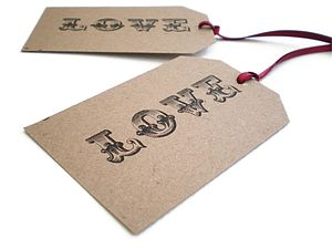Rustic Love Gift Tags - wedding favours