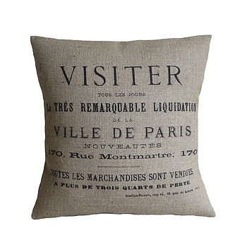Ville De Paris Cushion Cover