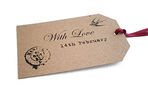 Valentine's Day Gift Tags - wedding favours