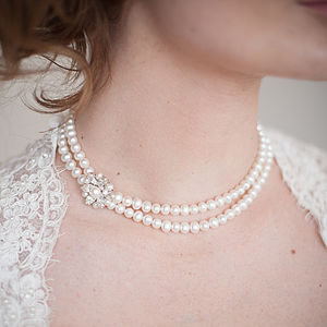 Vanessa Double Row Pearl Necklace - necklaces & pendants