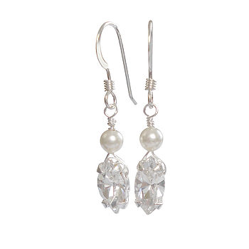 Vanessa Pearl And Crystal Bridal Earrings